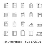 vector package types icon set...