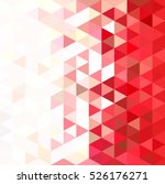 abstract mosaic triangular... | Shutterstock .eps vector #526176271