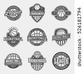 set of logos for basketball...   Shutterstock .eps vector #526181794