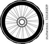 silhouette of a bicycle wheel.... | Shutterstock . vector #526181839