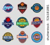set of logos for basketball... | Shutterstock .eps vector #526181881