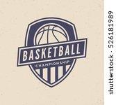 basketball championship logo.... | Shutterstock .eps vector #526181989