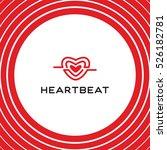 heartbeat logo vector template. ... | Shutterstock .eps vector #526182781