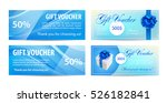 voucher template with wavy... | Shutterstock .eps vector #526182841