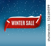 winter sale background with red ... | Shutterstock .eps vector #526184599