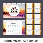 desk calendar template 2017....   Shutterstock .eps vector #526185304