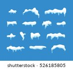 ice or snow blue vector caps... | Shutterstock .eps vector #526185805