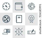 set of 9 universal editable... | Shutterstock .eps vector #526185991