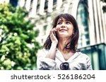 asian business girl in casual... | Shutterstock . vector #526186204