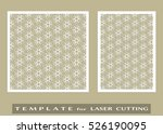 abstract cutout panels set for... | Shutterstock .eps vector #526190095