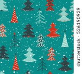 winter background with...   Shutterstock .eps vector #526190929
