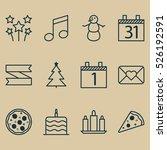 set of 12 christmas icons. can...