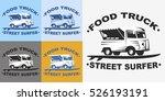 food truck emblems and logo... | Shutterstock .eps vector #526193191