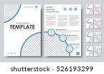 design color a4 brochures.... | Shutterstock .eps vector #526193299
