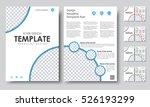 design color a4 brochures.... | Shutterstock .eps vector #526193299
