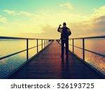 Man Photograph Morning Sea Fro...