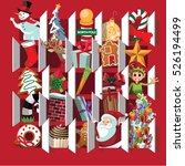 countdown to christmas advent... | Shutterstock .eps vector #526194499
