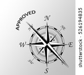 illustration of approved word... | Shutterstock . vector #526194835
