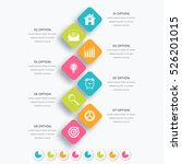 vector square infographics with ... | Shutterstock .eps vector #526201015