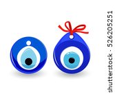 amulet evil eye isolated.... | Shutterstock .eps vector #526205251