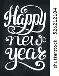 new year greeting card. vector... | Shutterstock .eps vector #526212184