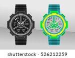 wrist watch design with... | Shutterstock .eps vector #526212259