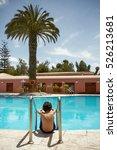 young boy enjoying vacation at...   Shutterstock . vector #526213681