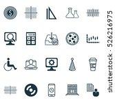 set of 20 universal editable... | Shutterstock .eps vector #526216975