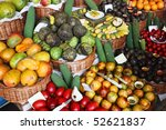 colorful fruit stand in a local ... | Shutterstock . vector #52621837