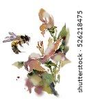flower and bee | Shutterstock . vector #526218475