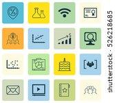 set of 16 universal editable... | Shutterstock .eps vector #526218685