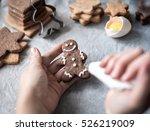christmas backing gingerbread... | Shutterstock . vector #526219009