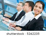 pretty white collar worker is... | Shutterstock . vector #5262235