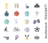 sport icons set of vector... | Shutterstock .eps vector #526226677