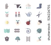 Garden And Tools Icons Set Of...