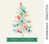 beautiful christmas tree with... | Shutterstock .eps vector #526227211