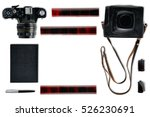 photographer things flat lay... | Shutterstock . vector #526230691