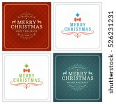 christmas greeting cards... | Shutterstock .eps vector #526231231
