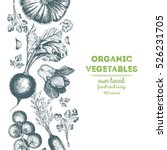 organic food card design.... | Shutterstock .eps vector #526231705