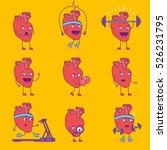 happy smiling heart logotype....   Shutterstock .eps vector #526231795