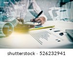 double exposure of... | Shutterstock . vector #526232941