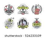 vector vaping badges  modern... | Shutterstock .eps vector #526233109