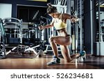 young fitness woman execute... | Shutterstock . vector #526234681