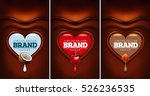 dark chocolate heart with... | Shutterstock .eps vector #526236535