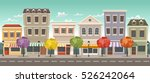 street of a colorful city with... | Shutterstock .eps vector #526242064