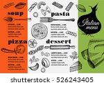 italian menu placemat food... | Shutterstock .eps vector #526243405