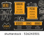 restaurant menu placemat food... | Shutterstock .eps vector #526243501
