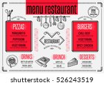 placemat menu restaurant food... | Shutterstock .eps vector #526243519