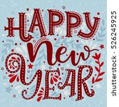 happy new year. hand drawn...   Shutterstock .eps vector #526245925