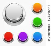 set of vector round web buttons ... | Shutterstock .eps vector #526246447